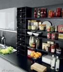 کاربرد شلف ها و قفسه بندی باز در آشپزخانه