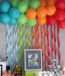 تزیین بادکنک برای جشن تولد