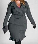 انتخاب کت و دامن برای زنان درشت اندام