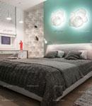 ایده هایی برای تزیین دیوار پشت تخت خواب